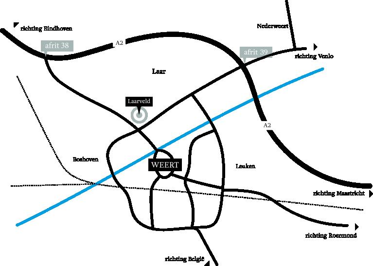 Liggingskaart van het plan